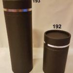 192 og 193 Sylinder Charcoal with silver